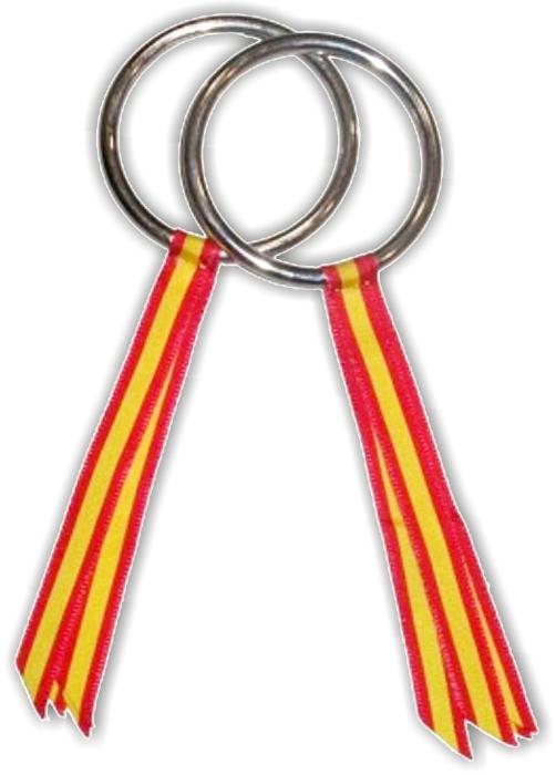Anillas para concursos con la bandera de España