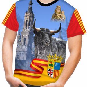 Camiseta de toros bravos por comunidades Aragón
