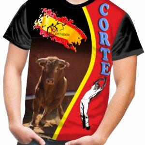 Camiseta de toros con bandera española