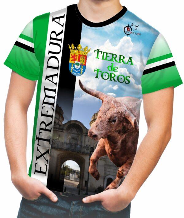 Camiseta taurina comunidad Extremadura