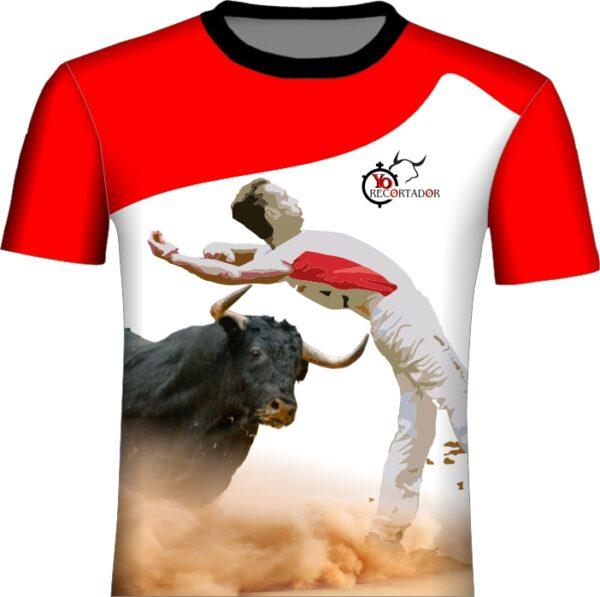 Camiseta Corte de espalda a toro bravo
