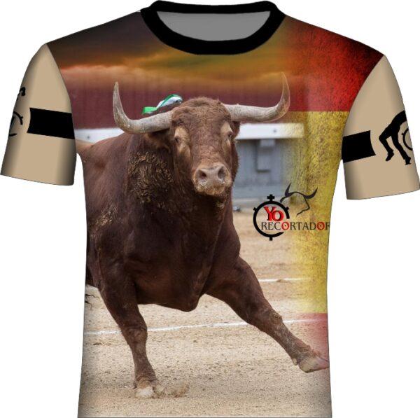 Camiseta toro bravo en plaza de toros