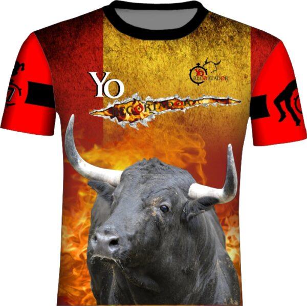 Camiseta taurina bandera de España rasgada