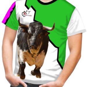 Camiseta sport-casual transpirable con motivos taurinos