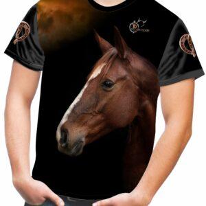Camiseta con cabeza de caballo