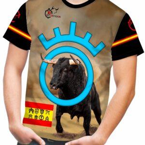camiseta taurina con hierros de ganaderías taurinas